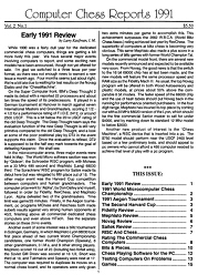 Computer Chess Reports Front Page 1991 1st Quarter 40 x 40