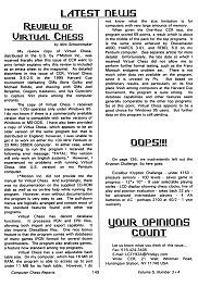 Computer Chess Reports Front Page 1995 Addendum Nos 3-4  18 x 18