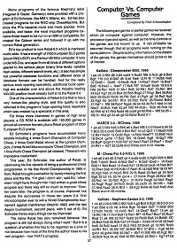 Computer Chess Reports Front Page 1995 Nos 2 Second Half 18 x 18